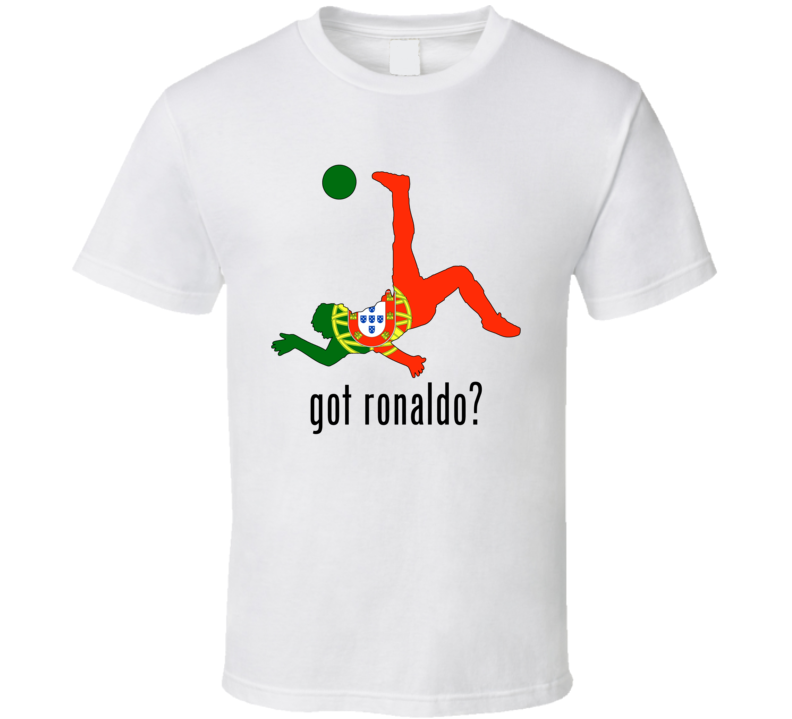Got Ronaldo Milk Commercial Spoof Portugal World Cup Fan Supporter T Shirt