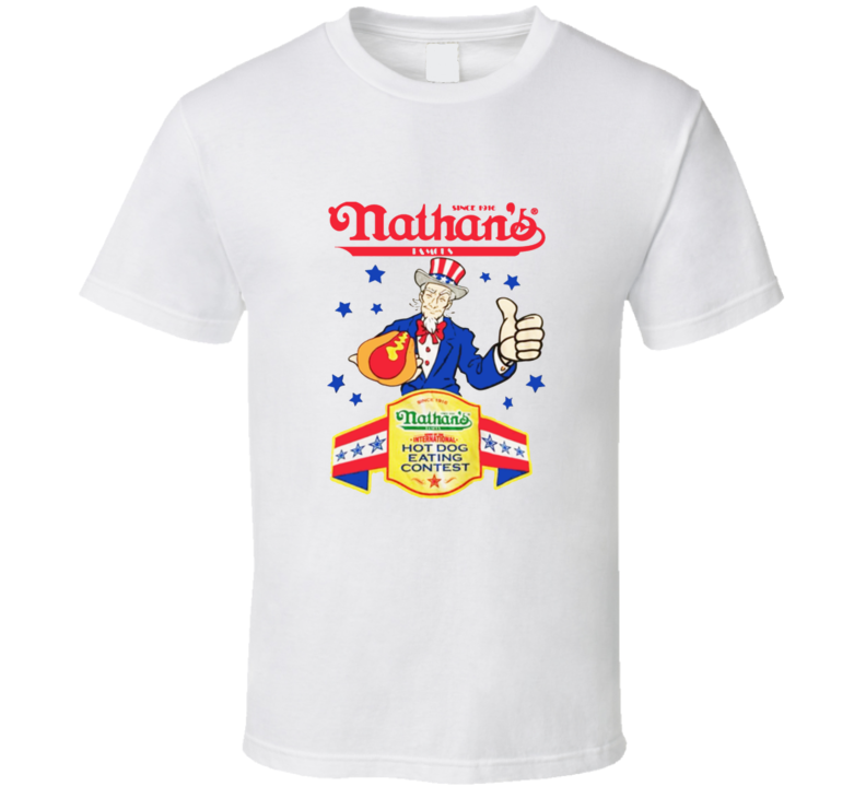 Nathans Hot Dog Eating Contest 4th Of July Joey Chestnut Champion T Shirt