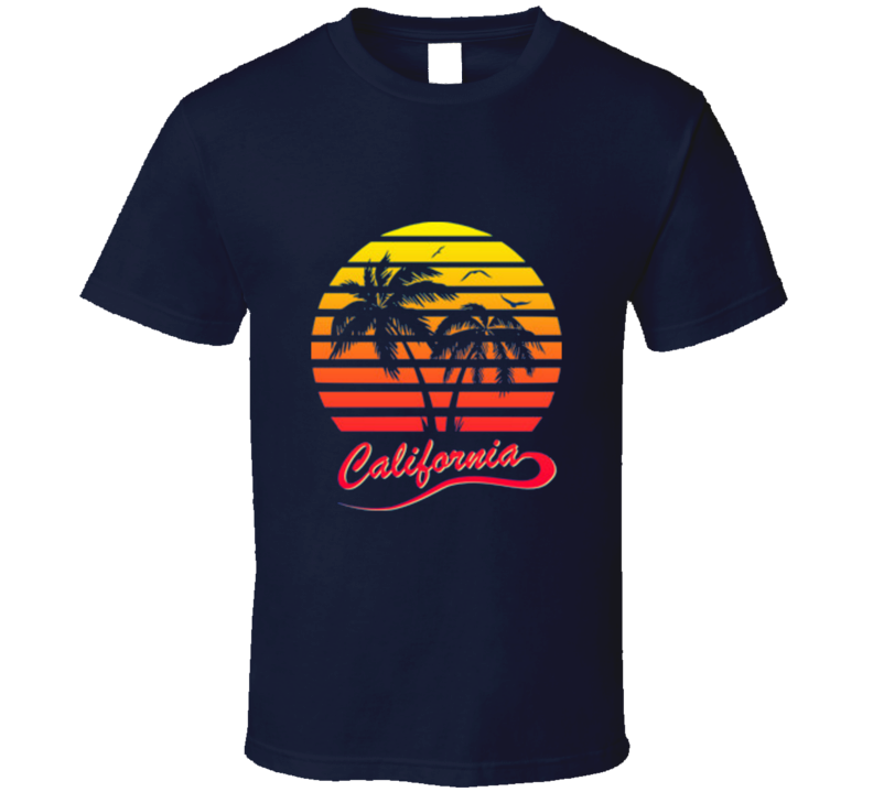 California Retro Vintage 80's Style Cool T Shirt