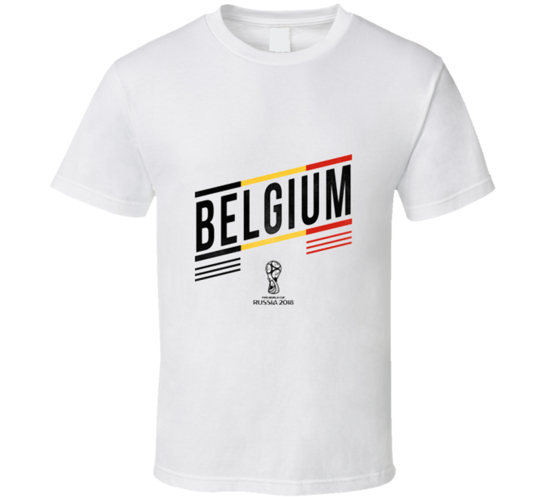 Belgium Soccer World Cup Football Fan Superstar Russia 2018  T Shirt