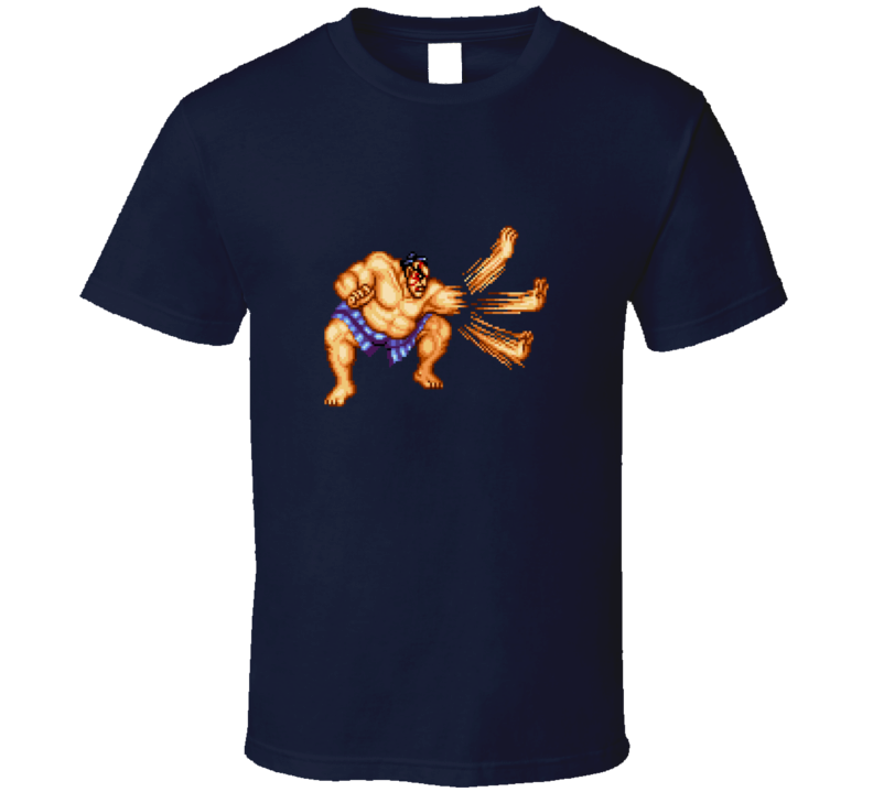 E Honda Street Fighter Retro Classic Video Game Gaming T Shirt