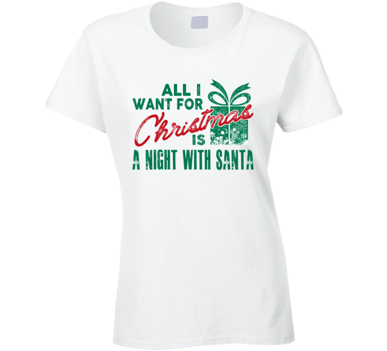 A Night With Santa Wish Women's Christmas Funny Humor T Shirt