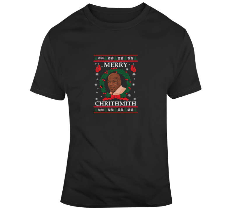 Mike Tyson Merry Chrithmith Lisp Christmas Funny Boxing T Shirt