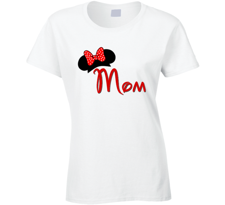 Mom Mickey Minnie Ears Family T Shirt