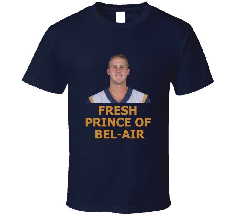 Jared Goff Fresh Prince Of Bel-air Los Angeles Qb Football T Shirt
