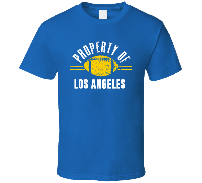Property Of Los Angeles Football T Shirt