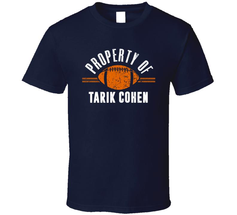 Property Of Tarik Cohen Chicago Running Back Football T Shirt
