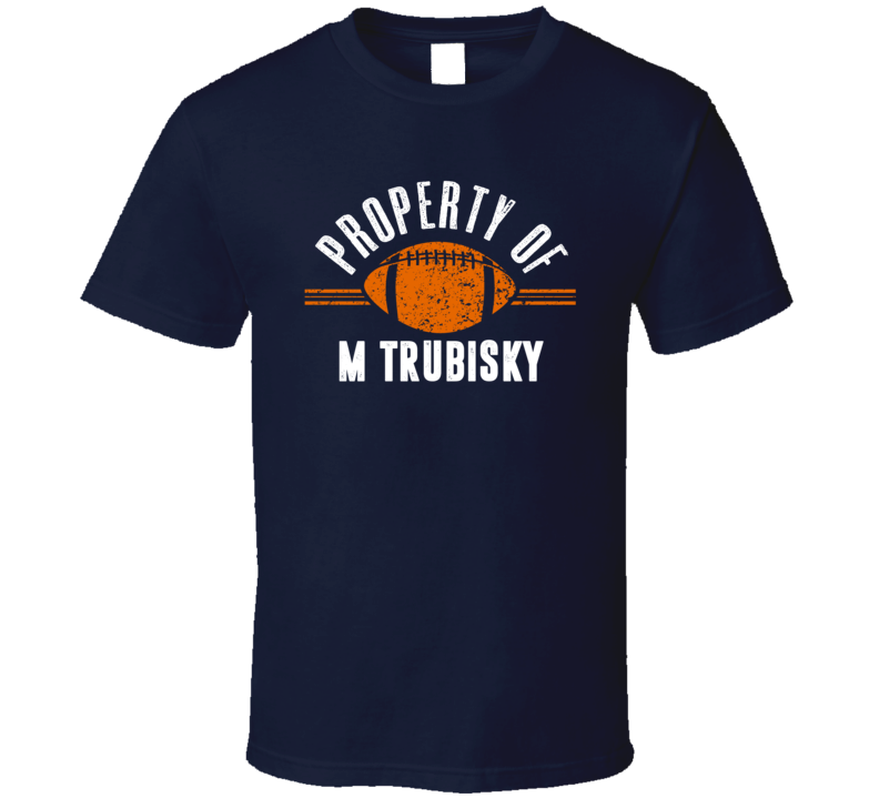 Property Of Mitchell Trubisky Chicago Qb Football T Shirt
