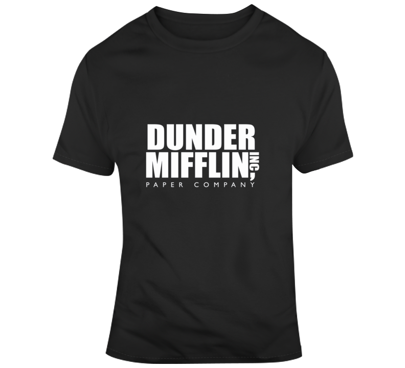 The Office Tv Show Dunder Mifflin Paper Company Mens Black T Shirt