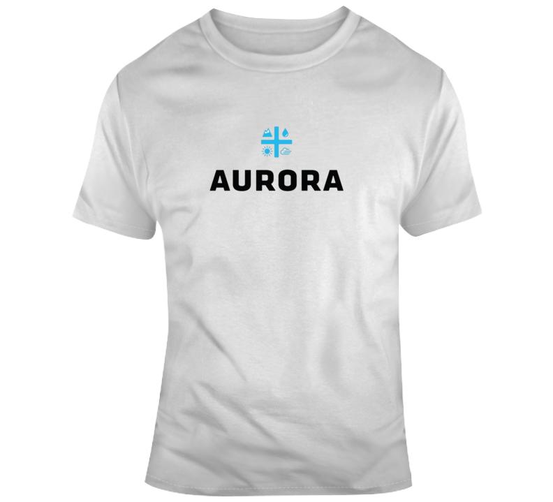 Aurora Cannabis Weed Marijuana Stoner Company Logo Fan T Shirt