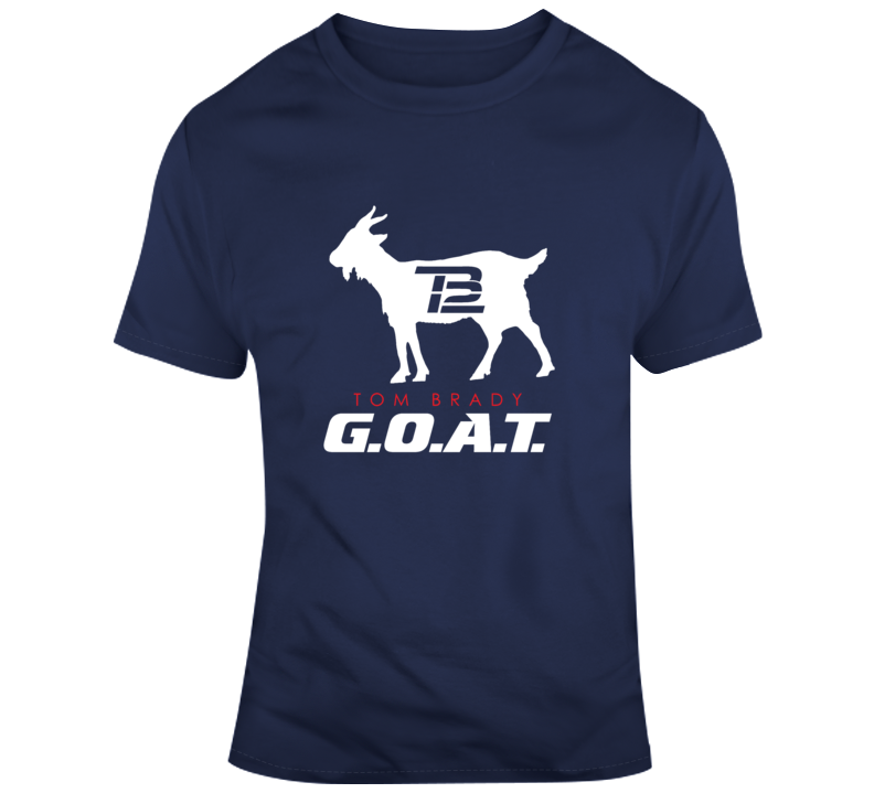 Tom Brady Tb12 G.o.a.t. New England Football T Shirt
