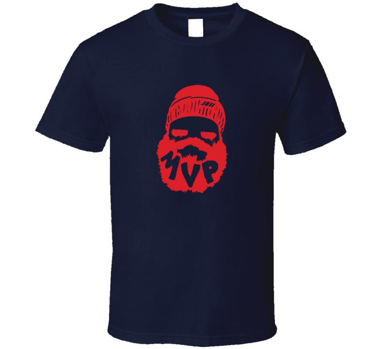 Julian Edelman New England Mvp Sihoeuette Beard T Shirt
