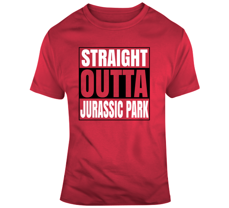 Straight Outta Jurassic Park Toronto Basketball Fan Zone T Shirt