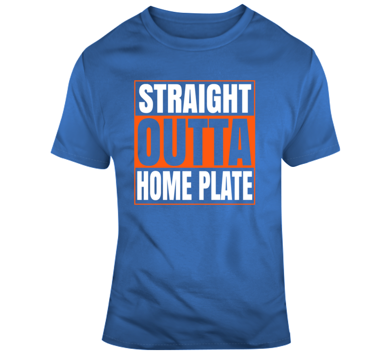 Straight Outta Home Plate New York Baseball T Shirt