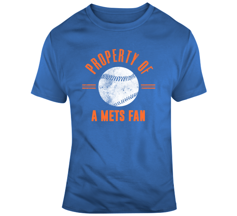 Property Of A Mets Fan New York Baseball T Shirt