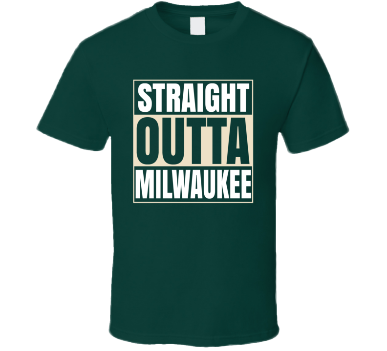 Straight Outta Milwaukee Basketball T Shirt