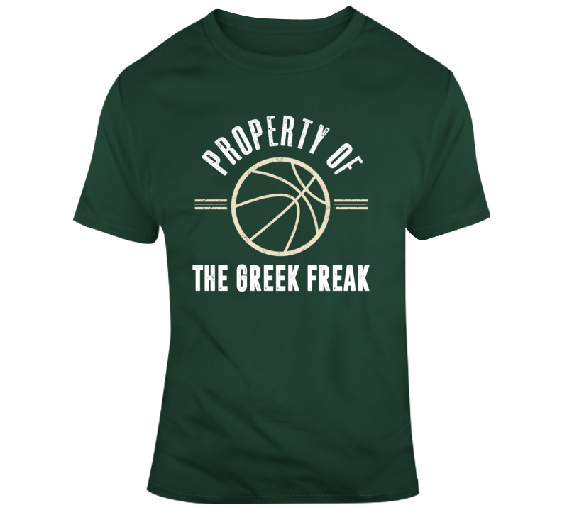 Property Of The Greek Freak Giannis Milwaukee Basketball T Shirt
