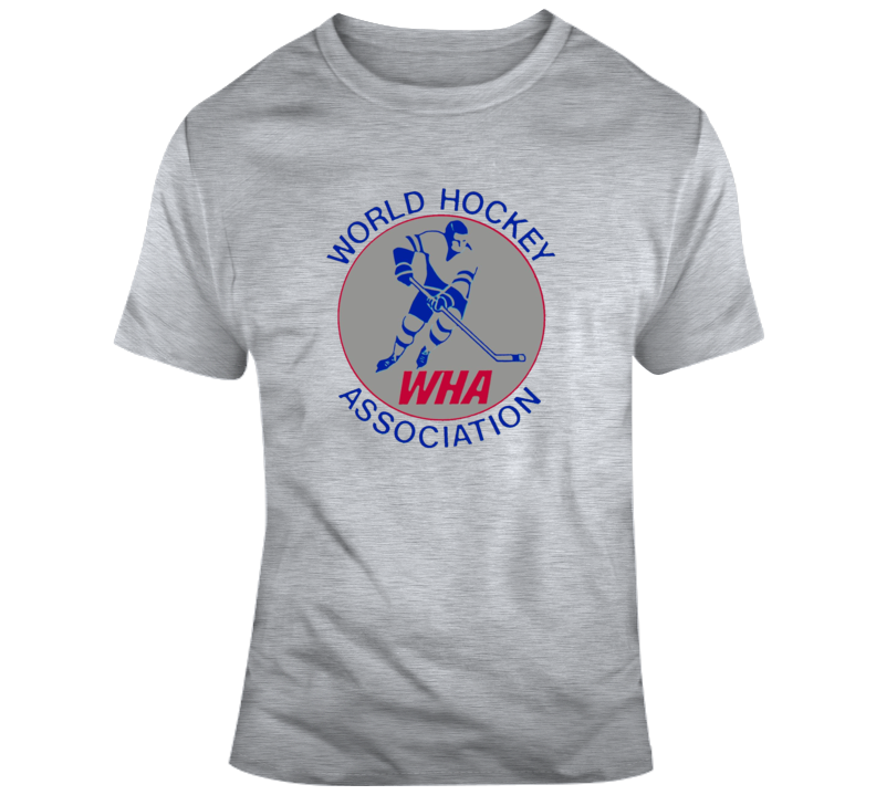 Wha World Hockey Organization Defunct Hockey League Vintage Retro T Shirt