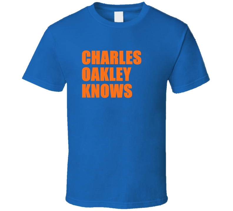 Charles Oakley Knows Retro Vintage New York Basketball T Shirt