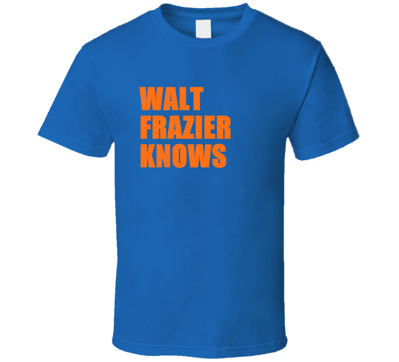 Walt Frazier Knows Retro Vintage New York Basketball T Shirt