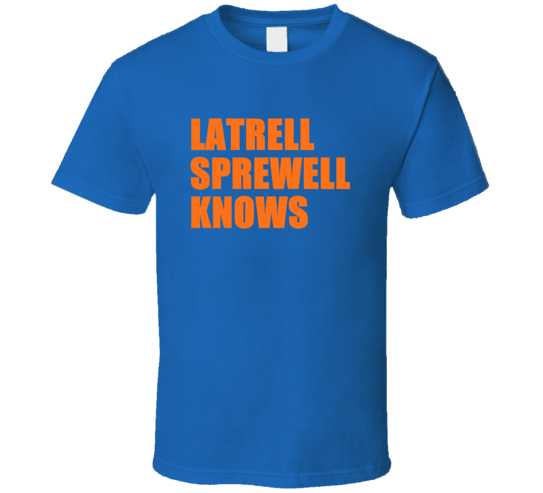 Latrell Sprewell Knows New York Basketball T Shirt