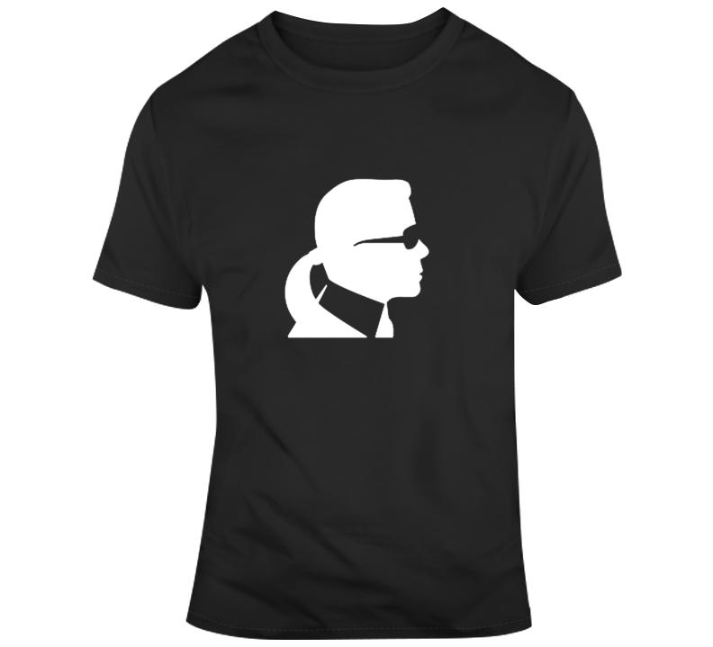 Karl Lagerfeld Silhouette Designer Tribute Memorial T Shirt