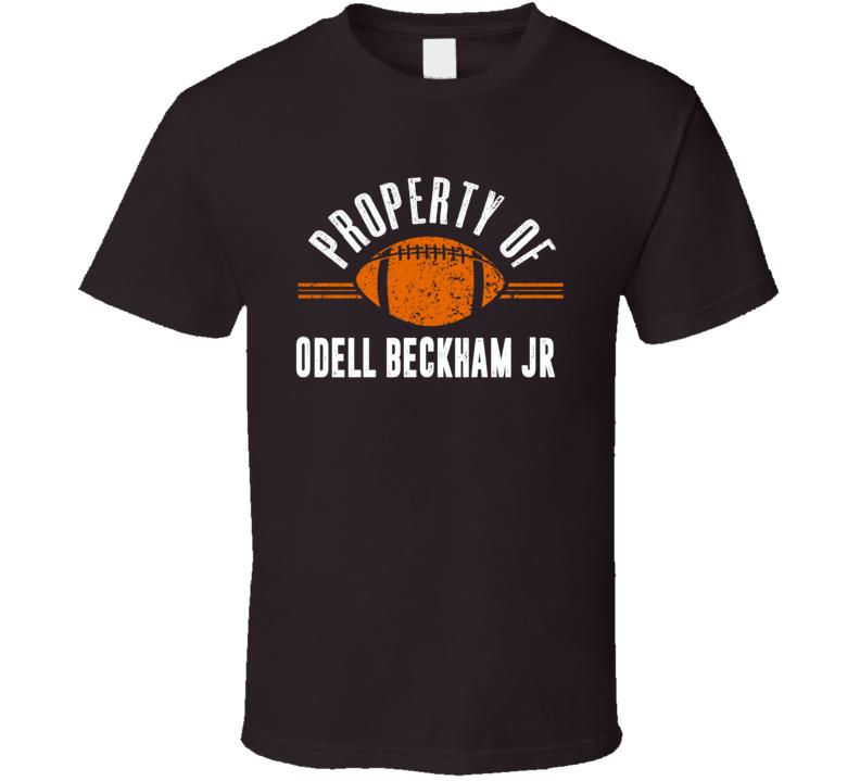 Property Of Odell Beckham Jr Cleveland Football T Shirt