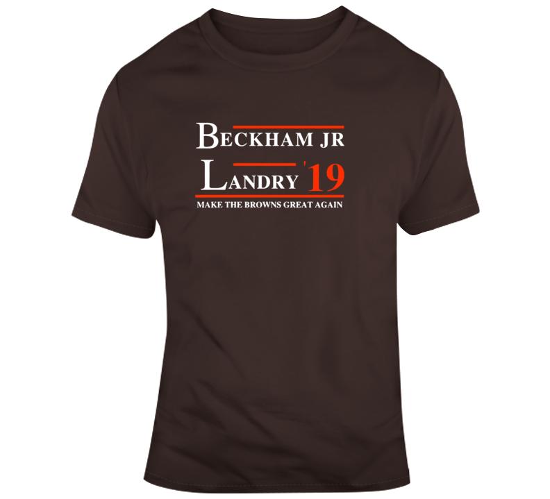 Odell Beckham Jr And Landry Obj Make Cleveland Great Again Football T Shirt