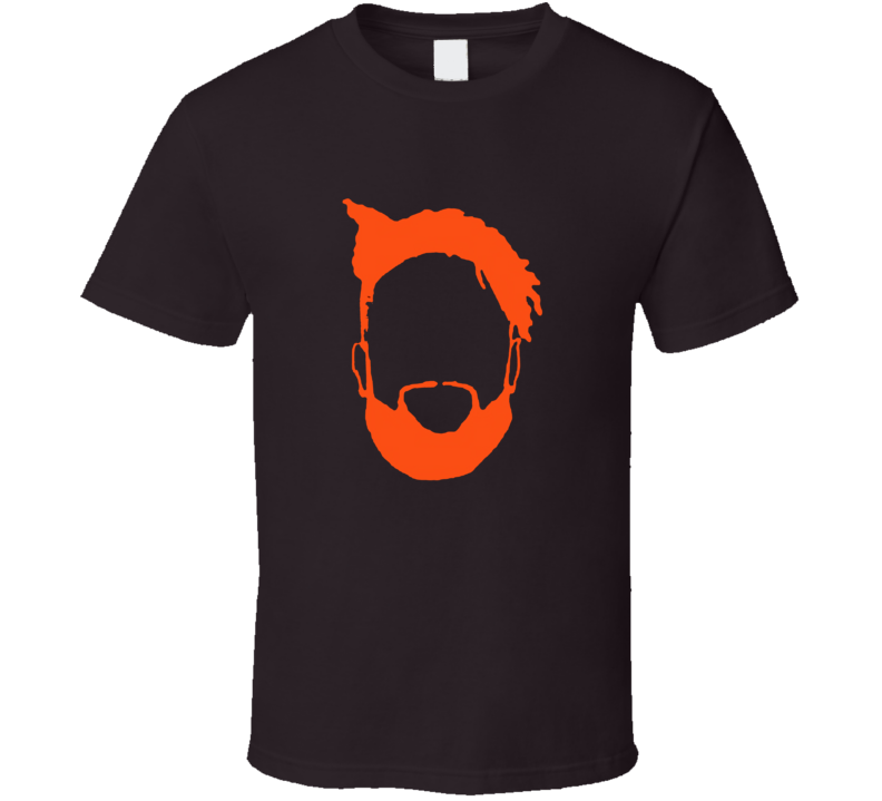 Odell Beckham Jr Obj Silhouette Big Head Cleveland Football T Shirt