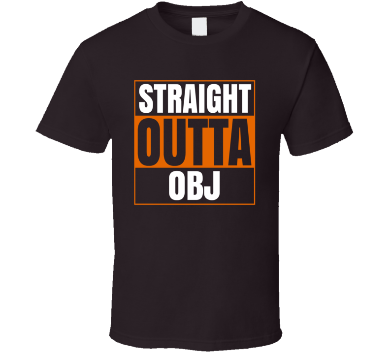 Straight Outta Obj Odell Beckham Jr Cleveland Football T Shirt