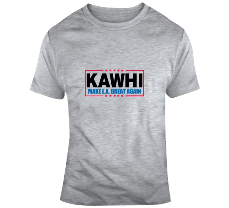 Kawhi Make La Great Again Los Angeles Gray Baketball T Shirt