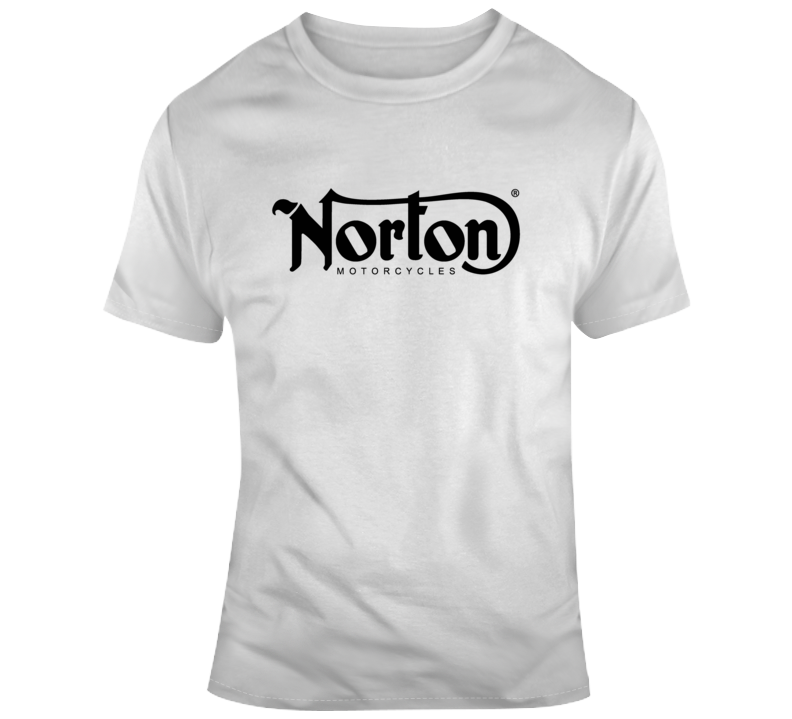 Norton Motorcycles Black Logo Biker T Shirt