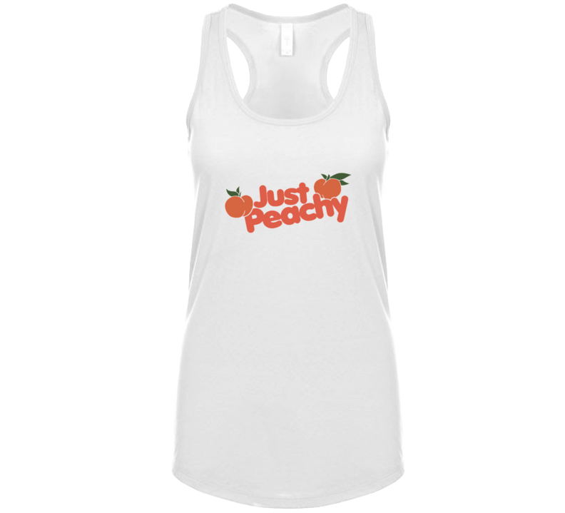 Womens Just Peachy Casual Summer Retro Racerback Tanktop