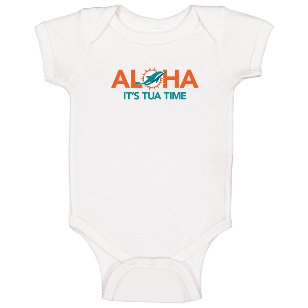 Aloha It's Tua Time Tagovailoa Qb Miami Football Baby One Piece