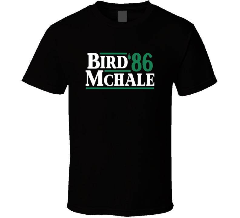 Larry Bird Kevin Mchale 1986 Presidential Boston Basketball T Shirt