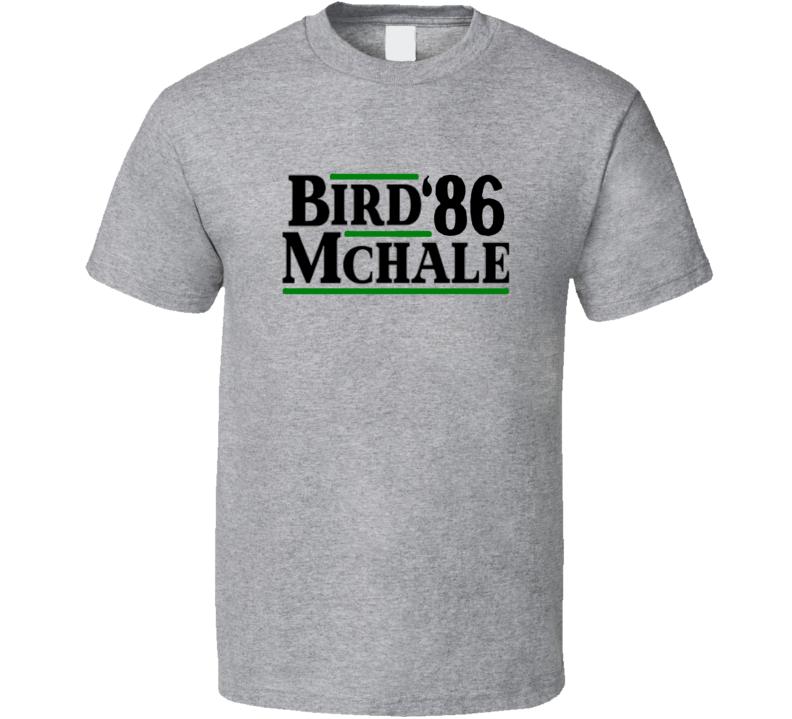 Larry Bird Kevin Mchale 1986 Presidential Boston Sport Grey Basketball T Shirt