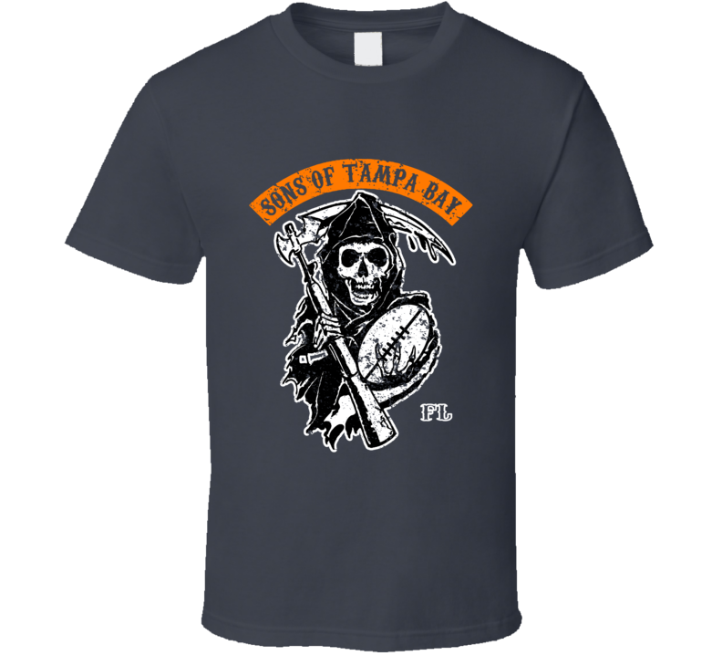 Sons Of Tampa Bay Football Team Anarchy Style Sports Fan T Shirt