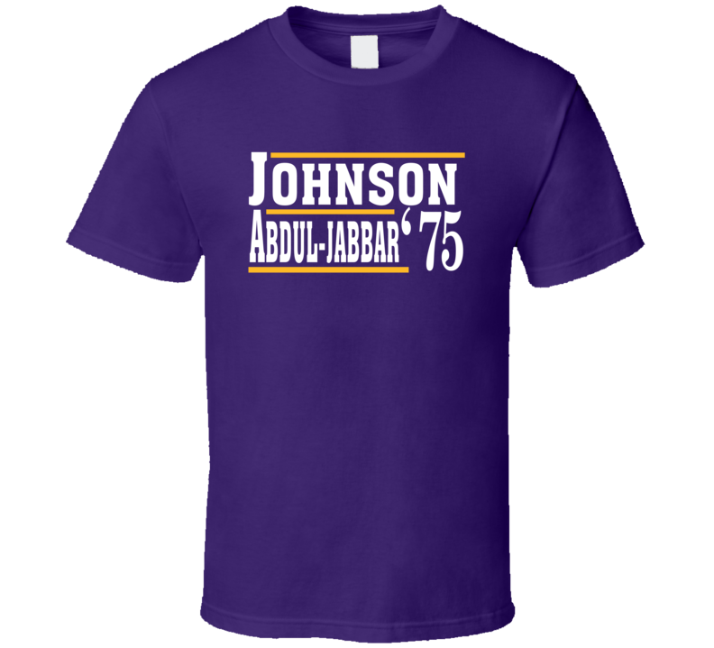 Magic Johnson Kareem Abdul-jabbar 1975 Election Style Favorite Players Los Angeles L Basketball Fan T Shirt