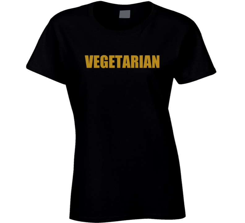 Vegetarian Vegan Animal Rights Actvist Ladies T Shirt