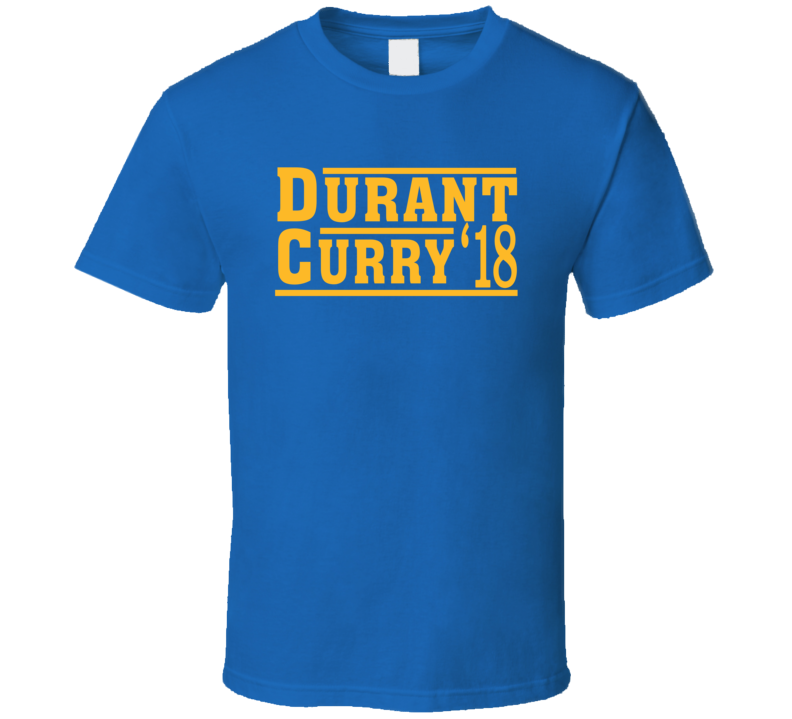 Kevin Durant Stephen Curry 2018 Golden State Election Style Champs Basketball T Shirt