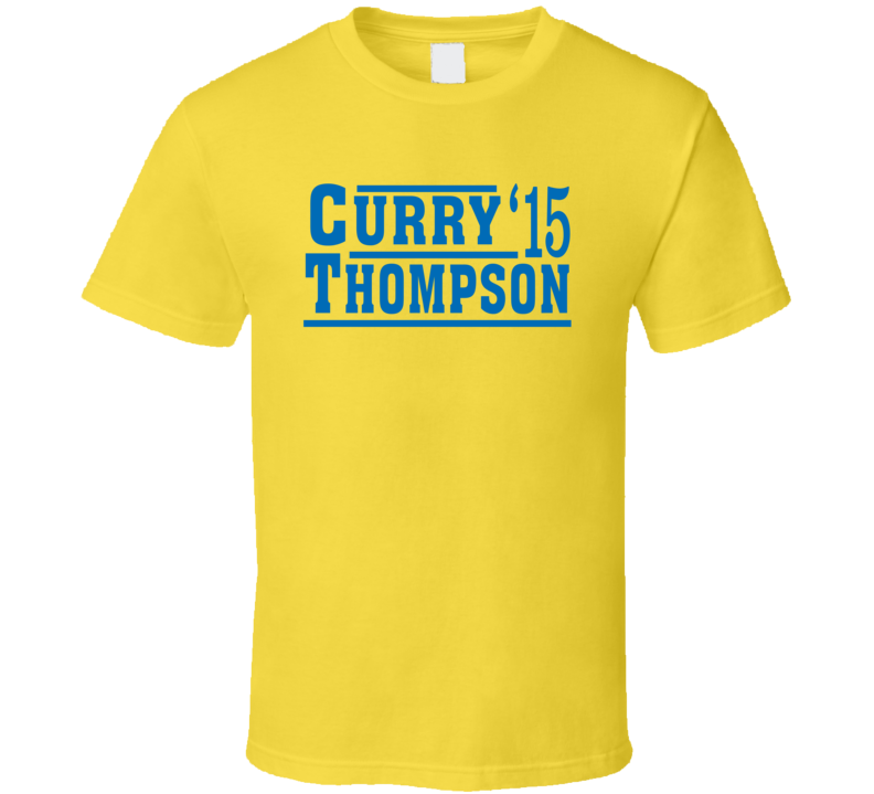 Stephen Curry Klay Thompson 2015 Golden State Election Style Champs Basketball Fan T Shirt