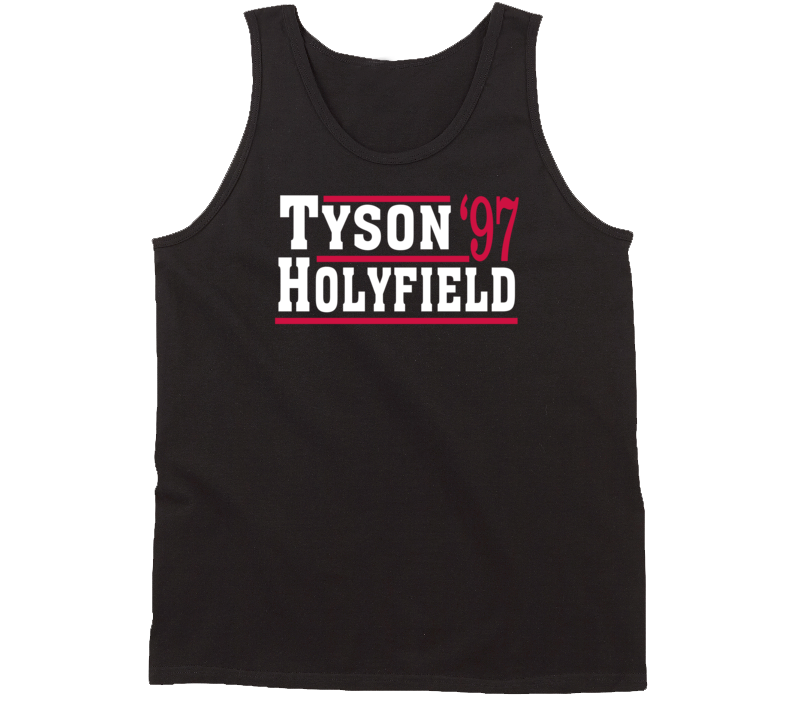 Mike Tyson Evander Holyfield 1997 Election Style Boxing Bite Fight Tanktop