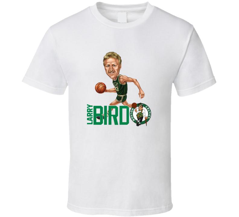 Larry Bird Retro Vintage Caricature Basketball T Shirt