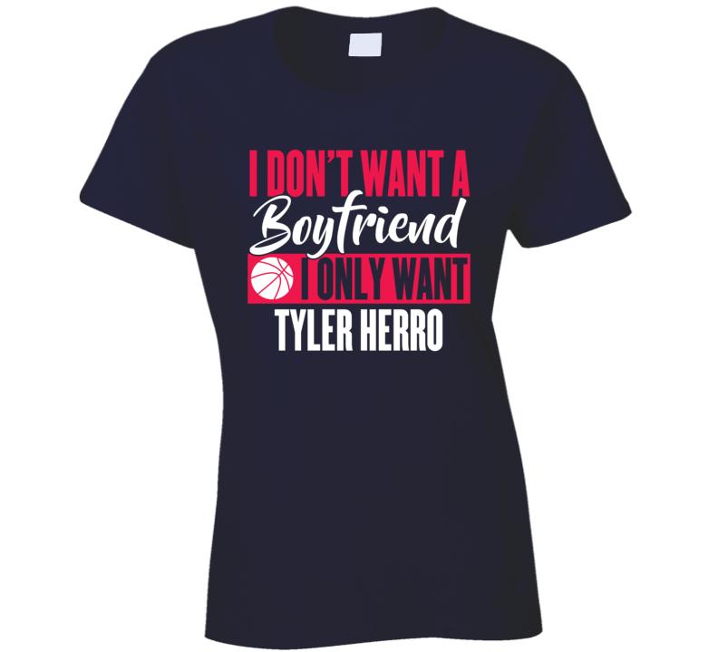 Tyler Herro My Boyfriend Ladies Miami Basketball Fan Ladies T Shirt