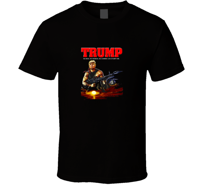Donald Trump Rambo Presidential Support T Shirt