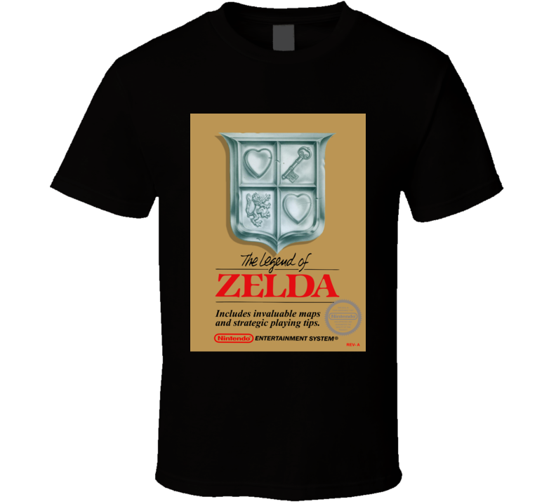 Legend Of Zelda Nes Retro Video Game T Shirt