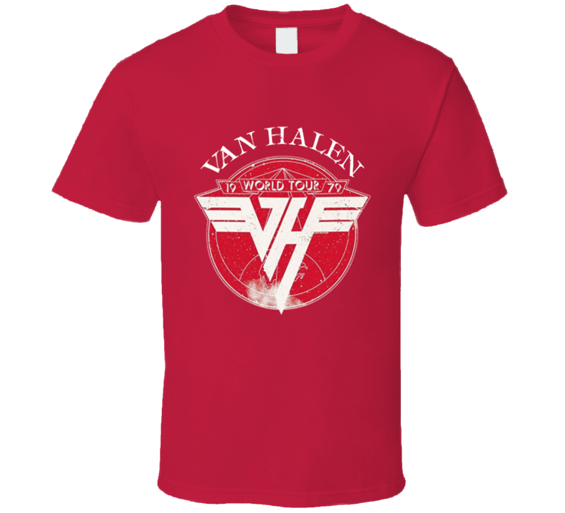 Eddie Van 1979 Tour Legend Rock Band Music T Shirt