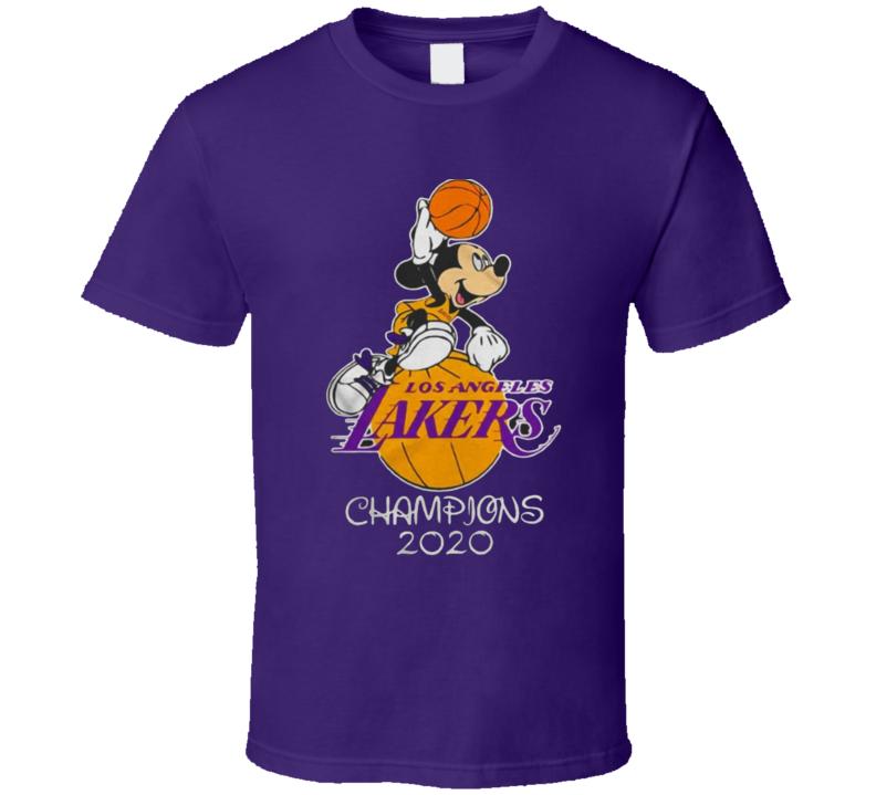 Los Angeles Mickey Bubble Champions Basketball T Shirt
