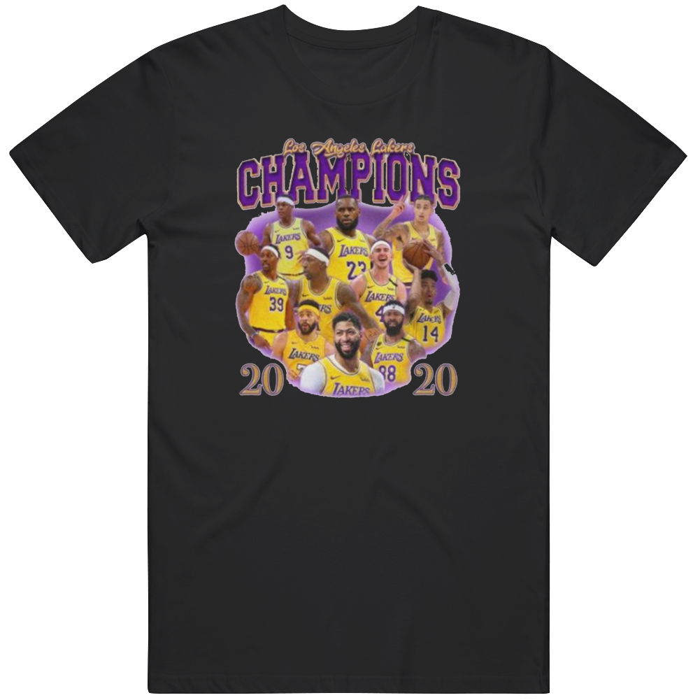 Los Angeles 2020 Champions Basketball Fan Black T Shirt
