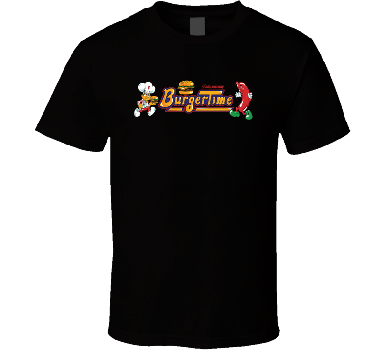 Burgertime Retro Nes Video Game T Shirt